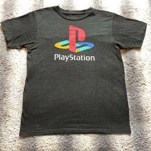 🎮 Classic PlayStation Logo Tee Men's M Grey